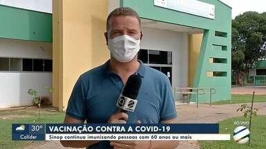 Coronavac continua em falta em Sinop - Campanha de vacinação contra a covid-19 continua apenas com doses da Astrazeneca