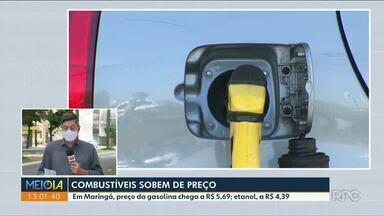 Combustíveis sobem de preço em Maringá - Etanol teve alta de até 30 centavos no fim de semana.