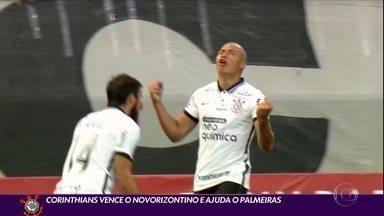 Corinthians vence o Novorizontino e ajuda o Palmeiras - Corinthians vence o Novorizontino e ajuda o Palmeiras