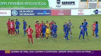 Sergipe elimina o Confiança e decide o título sergipano com o Lagarto - Promeiro jogo seráno sábado, na Arena Batistão.