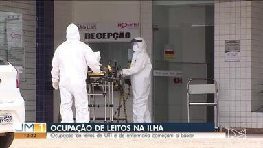 Taxa de ocupação de leitos de UTI e enfermaria cai em São Luís, mas segue em alerta - Ocupação de leitos de UTI e de enfermaria começam a baixar.
