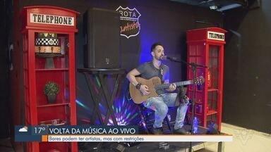 Música ao vivo volta a ser permitida na Baixada Santista - Artistas comemoram flexibilização.