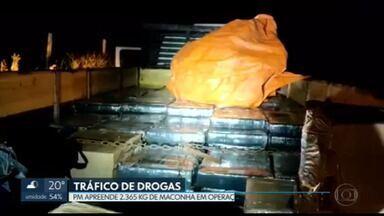Bope do DF apreende mais de 2 toneladas de maconha em rodovia do MS - Os policiais participam de operações organizadas pelo Ministério da Justiça.