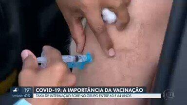 Sobe a taxa de internação por Covid-19 no grupo entre 60 e 64 anos - Enquanto isso, houve queda em todos os grupos acima dos 65 anos, que aderiram mais à vacinação.