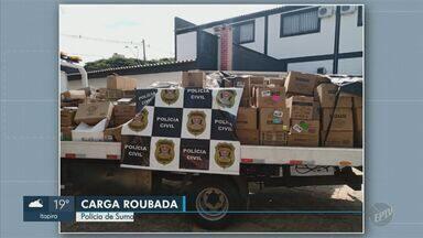 Polícia de Sumaré prende suspeito com carga roubada de lâmpadas avaliada em R$ 150 mil - Homem alega que foi contratado para realizar o transporte da carga e cuidar da mercadoria. Policiais chegaram até a casa após uma denúncia de tráfico de drogas.