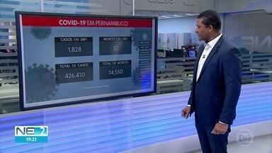 1.828 casos foram confirmados e 32 mortes nas últimas 24 horas em Pernambuco - Estado totaliza 426.410 casos e 14.550 mortes desde o início da pandemia