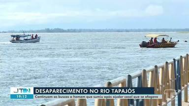 Homem que mergulhou no Rio Tapajós, em Santarém, continua desaparecido - Emerson da Costa está desaparecido desde domingo, 9. Corpo de Bombeiros continuam as buscas.