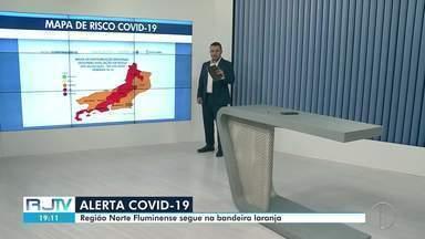 Região Norte Fluminense segue na bandeira laranja em Mapa de Risco do estado - O estado do Rio de Janeiro apresentou uma redução de 31% no número de óbitos e as internações por síndrome respiratória aguda grave caíram 32%.
