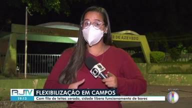 Campos, RJ, volta para a fase laranja da pandemia - Com fila de leitos zerada, cidade liberou o funcionamento de bares.