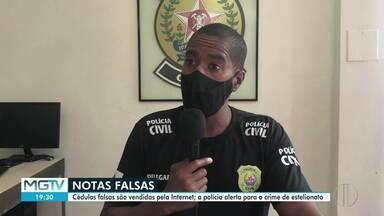 Polícia Civil investiga comércio de dinheiro falso no Vale do Aço - Cédulas falsas são vendidas pela internet.