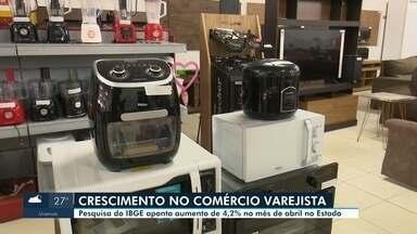 Comércio em Roraima cresce 4,2% em abril - Pesquisa é do Instituto Brasileiro de Geografia e Estatistica (IBGE) em comparação ao mês de fevereiro desse ano.
