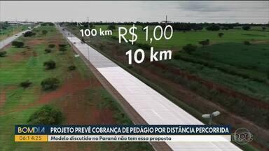 Pedágio deve ter tecnologia que faz cobrança proporcional à distância percorrida - Congresso já aprovou o projeto que ainda precisa da sanção do presidente Jair Bolsonaro.
