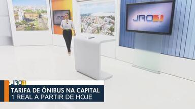 Confira a íntegra do JRO1 desta segunda-feira, 10 de Maio - Telejornal é apresentado por Yonara Werri.