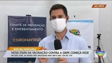 São José inicia nova etapa de vacinação contra gripe - Idosos e professores podem ser vacinados até 8 de junho