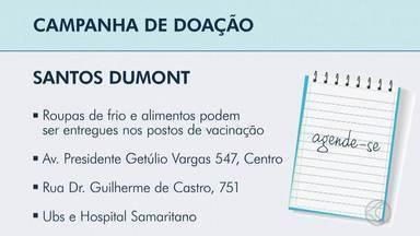 Prefeitura de Santos Dumont arrecada alimentos e agasalhos - A ação é das secretarias de Saúde e de Assistência Social, e o material será distribuído para famílias em situação de vulnerabilidade social.