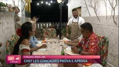 Confira como foi o primeiro jantar do 'Jogo de Panelas Fortaleza' - Marilene comenta o jantar que organizou. O Chef Leo Gonçalves avalia o cardápio de Marilene