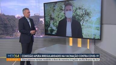 Frente parlamentar se reúne em Curitiba pra discutir vacinação dos novos grupos - Vacinação em pessoas com comorbidades, gestantes e mulheres que tiveram filhos recentemente era uma das pautas da reunião. Outro assunto abordado foi a vacinação em pessoas que ainda não estão nos grupos prioritários