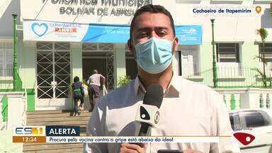 Vacinação da gripe está abaixo do ideal no Sul do ES - Assista ao vídeo.