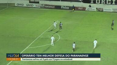 Operário tem melhor defesa do Paranaense - Fantasma sofreu só 3 gols em 9 jogos no estadual.