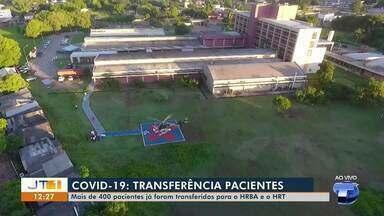 Mais de 400 pacientes com Covid-19 já foram transferidos para hospitais da região - Cissa Loyola te conta mais detalhes.