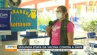 Boa Vista inicia segunda etapa da vacina contra a gripe - Campanha nacional começa vai até o dia 8 de junho.