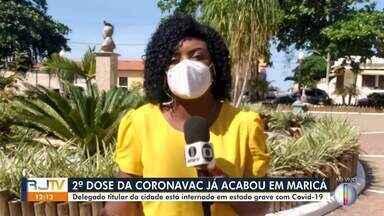 Delegado titular de Maricá está intubado por complicações da Covid-19 - Segunda dose da Coronavac que chegou na cidade já esgotou.