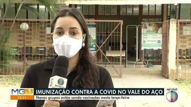 Vacinação contra a Covid-19 avança para novas faixas etárias em Ipatinga e Timóteo - Saiba mais.