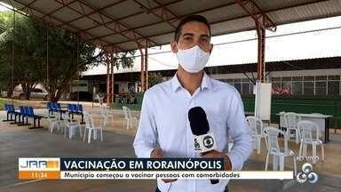 Vacinação contra a Covid-19 em Rorainópolis - Município, no Sul do estado, começou a vacinar pessoas com comorbidades.