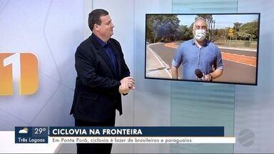 Em Ponta Porã, ciclovia é lazer de brasileiros e paraguaios - MS1 Dourados