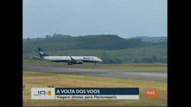 A volta dos voos - Companhia aérea retoma viagens diretas entre Chapecó e Florianópolis