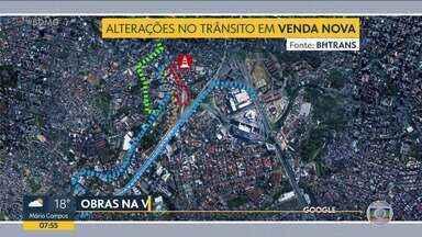 Avenida Vilarinho fica parcialmente interditada a partir de hoje - Sudecap faz obras de drenagem na bacia do córrego, na região de Venda Nova