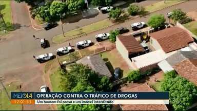Homem é preso durante operação conta o tráfico de drogas em Medianeira - Um imóvel foi interditado.