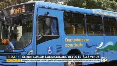 Ônibus com ar-condicionado de Foz do Iguaçu estão à venda - Empresas não cumprem contrato, prefeitura suspende isenção de imposto e ônibus param de circular.
