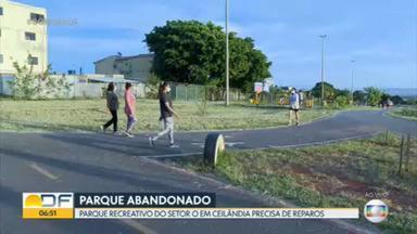 Parque Recreativo do Setor O precisa de reparos - Frequentadores denunciam o abandono da área.