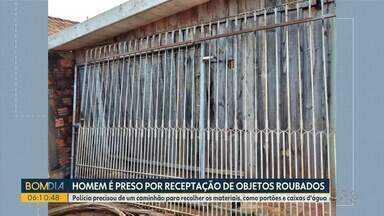 Homem é preso em Ponta Grossa por receptação de objetos roubados - O que chama a atenção é a quantidade de itens. A polícia precisou de um caminhão para transportar tudo.
