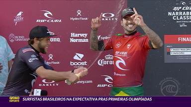 Surfistas brasileiros na expectativa para as primeiras Olimpíadas - Surfistas brasileiros na expectativa para as primeiras Olimpíadas