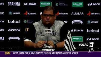 """Guto brinca antes de jogo contra Bolívar: """"Espero que faça bastante calor"""" - Guto brinca antes de jogo contra Bolívar: """"Espero que faça bastante calor"""""""