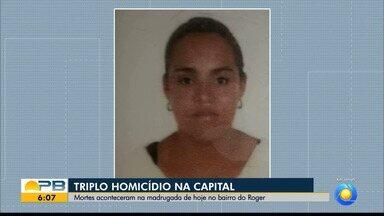 Dupla invade casas e mata três pessoas em João Pessoa - Crime aconteceu no bairro do Róger. Casal dormia quando foi morto e dupla invadiu outra casa para matar um homem.