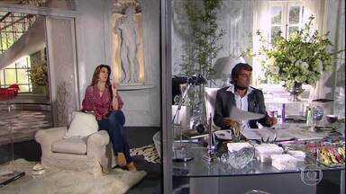 Jaqueline ordena que Jacques vá atrás de Clotilde para pedir desculpas - Ela diz que ele não irá demitir Rosário