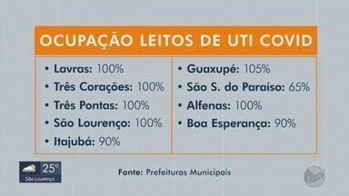 Hospitais registram 100% dos leitos de UTI ocupados em várias cidades do Sul de MG - Hospitais registram 100% dos leitos de UTI ocupados em várias cidades do Sul de MG