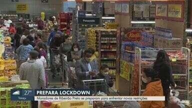 Moradores de Ribeirão Preto se prepararam para confinamento de cinco dias - Anúncio gerou filas em supermercados.
