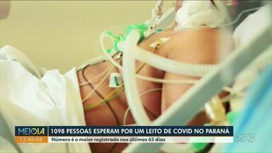 Mais de mil pessoas esperam por um leito de Covid-19 no Paraná - Número é o maior registrado nos últimos 65 dias.