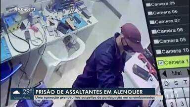 Operação da Polícia Civil encontra e prende assaltantes em Alenquer - Três homens foram pegos com aparelhos eletrônicos.
