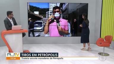 Tiroteio após assalto a joalheria assusta moradores de Petrópolis - Caso aconteceu nesta terça-feira (25) no Centro da cidade.