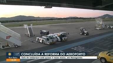 Reforma do Aeroporto de Navegantes é concluída - Reforma do Aeroporto de Navegantes é concluída
