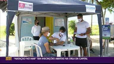 """""""Natação no mar"""" tem inscrições abertas em João Pessoa - Projeto pretende reunir amantes do esporte na orla da capital"""