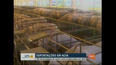 Exportações de carne suína em alta - Santa Catarina teve o segundo melhor resultado dos últimos 24 anos