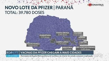 Cidades da Região Metropolitana de Curitiba começam a aplicar a vacina da Pfizer - Guarapuava, Foz do Iguaçu e Ponta Grossa também começaram a aplicar a Pfizer nesta semana.