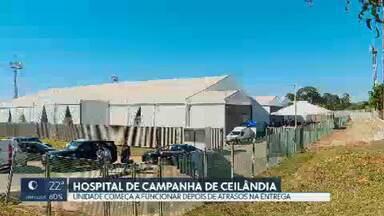 Hospital de Campanha de Ceilândia é inaugurado depois de muitos atrasos - A unidade começou a receber pacientes durante à tarde, segundo a Secretaria de Saúde. São mais 100 leitos de UCI para tratamento da covid-19.
