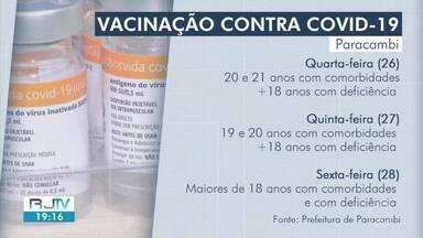 Paracambi vacina contra a Covid-19 moradores de 18 a 25 anos com comorbidades - Doses serão aplicadas nesta quarta-feira. Veja o que é preciso fazer.